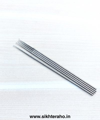 Iron Needle For Double Wire Thread 0.5mm ( Pack of 5 Needles )